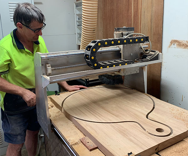 Cutting Board being crafted at The Cutting Board Company