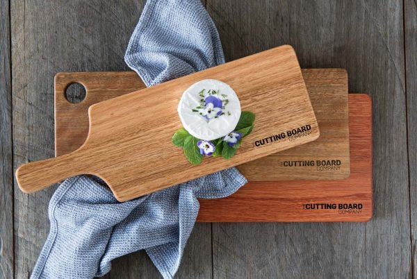 Value package cutting boards stacked and styled